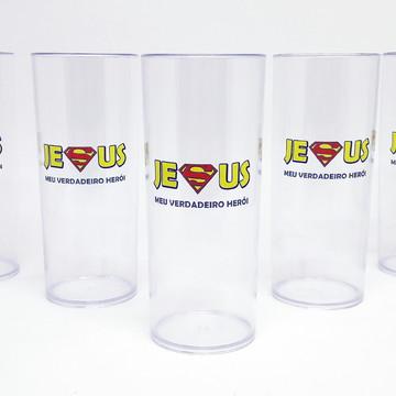 Long Drink Cristal Transparente Personalizado - Jesus