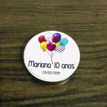 Lembrancinha aniversário latinha personalizada