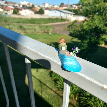 Casinha para mini jardim - cenário Peça exclusiva