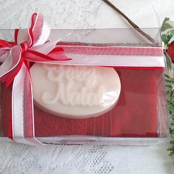 Sabonete Natal com toalhinha