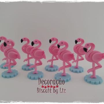 Aplique Flamingo Tropical - Biscuit