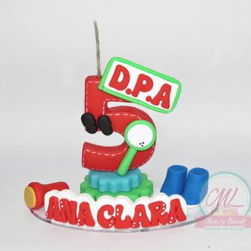 Vela Topo de bolo Biscuit - DPA