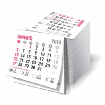 6782a897f 50 Blocos de calendário 2019 para imã de geladeira