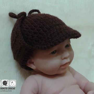 Chapéu Sherlock Holmes em crochê