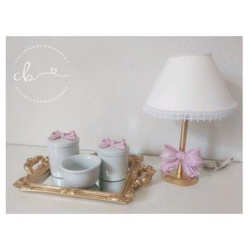 Kit Higiene de Porcelana para Menina Laços