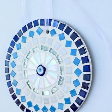 Mandala em mosaico olho grego mini