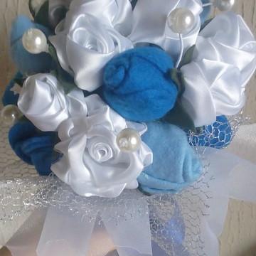 Mini Buque Azul e Branco