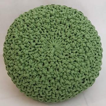 Almofada Maxi Tricot (croche) Verde