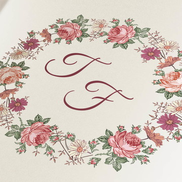 Monograma para papelaria de casamento e bodas - arte digital