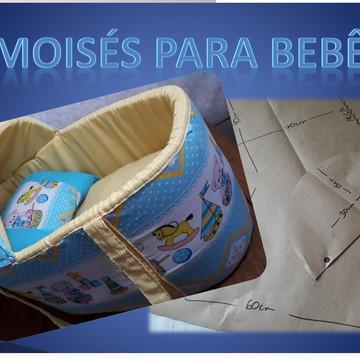 Moldes e projeto Moisés para bebê