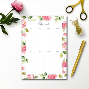 Planner de mesa (semanal) Pinky
