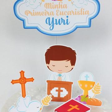 Topo de Bolo Primeira Eucaristia