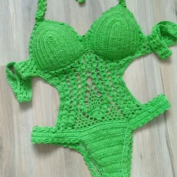 0f74f418d Body de Croche Fio Dental Sexy