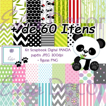 Kit Scrapbook Digital PANDA