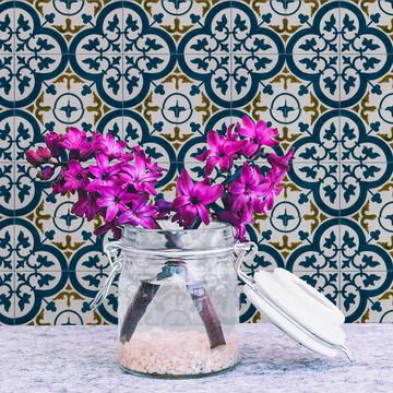 Adesivo de Azulejo Folhas Portuguesas
