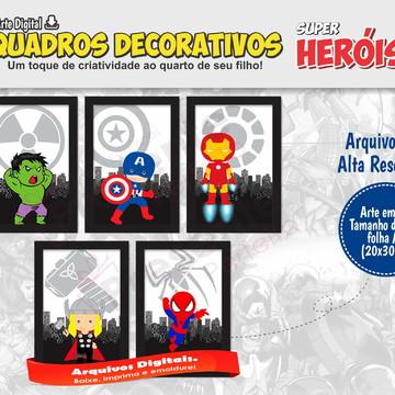 Quadros Super Heróis Baby