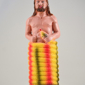 Imagem Oxumaré no santo Escultura 100% em gesso puro