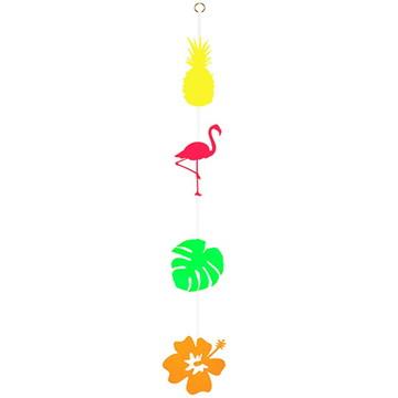 Móbile decorativo Flamingo Tropical - 1 unidade - 80 cm