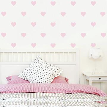 Adesivo coração rosa pastel
