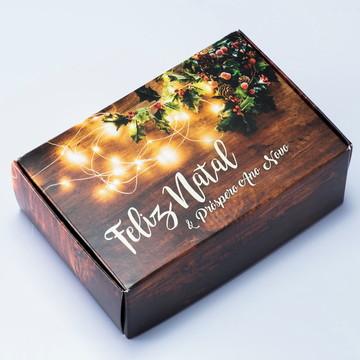 Caixa para 6 doces Natal Rústico c/10 un