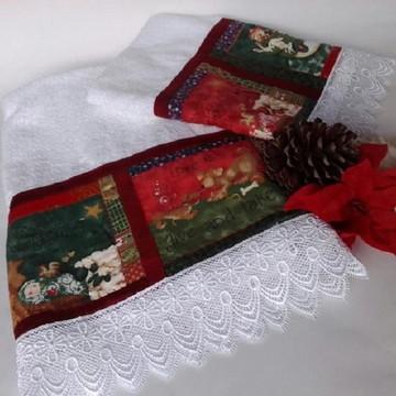 Jogo toalha Decorada Natal