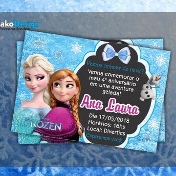 Convite de Aniversário Frozen