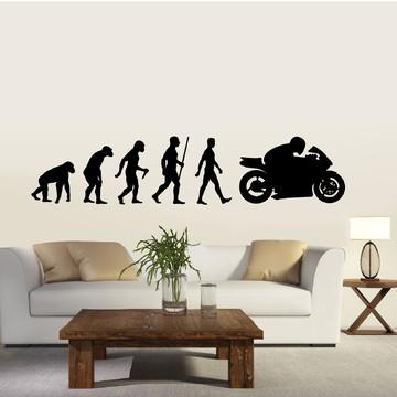 Adesivo de Parede - Evolução da Moto