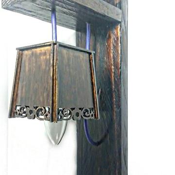 Luminária de Parede Tipo Arandela (Madeira) 127v / 220v