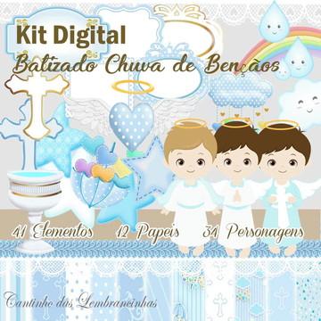 Kit Digital Batizado Menino