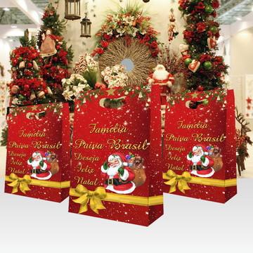 Sacola Lembrança de Natal Personalizada