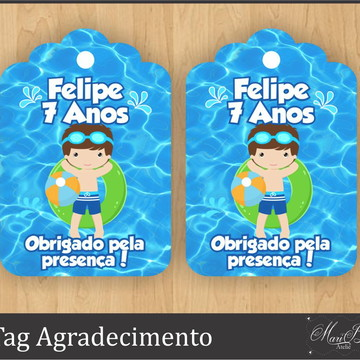 Tag Agradecimento - Pool Party