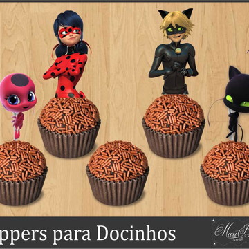 Topper Docinho - Lady Bug Miraculous