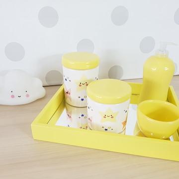 Kit Higiene Porcelana Estrelas Amarelo
