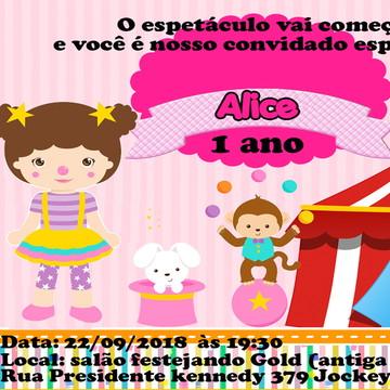 Convite Circo Rora