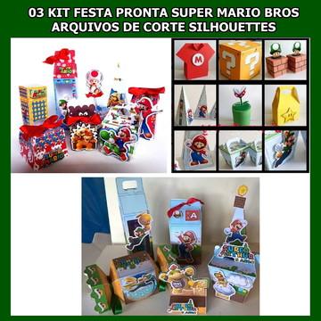 3 Festa Pronta Super Mario - Arquivos Silhouettes