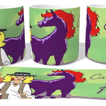 d5146893ca Caneca Porcelana luxo Copo Xícara Cavalo de Fogo e princesa