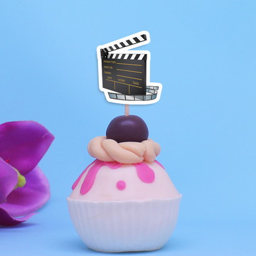 Topper para doces - cinema claquete