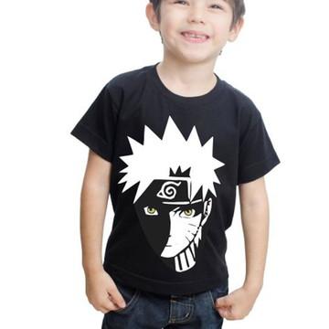 Camiseta Naruto Infantil Estampada Algodão