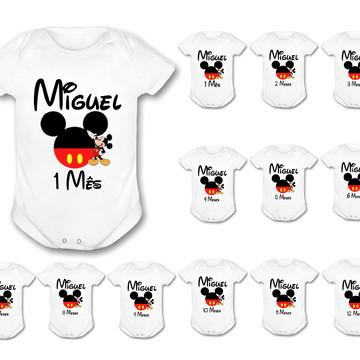 Body Mesversario Mickey Personalizado
