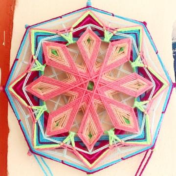 Florarte, 25cm — Mandala Têxtil Ojos de Dios