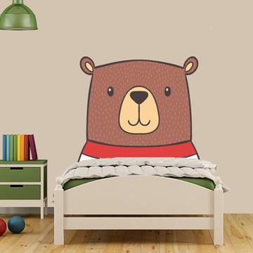 Adesivo cabeceira urso