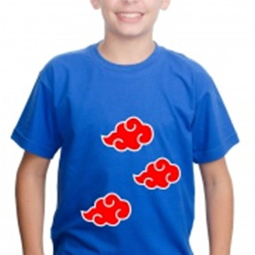Camiseta Naruto Infantil Anime Algodão