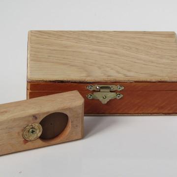 Abridor de garrafas artesanal com caixa