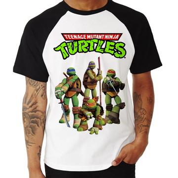 Camiseta Raglan Tartarugas Ninja Teenage Mutant Ninja Turtle