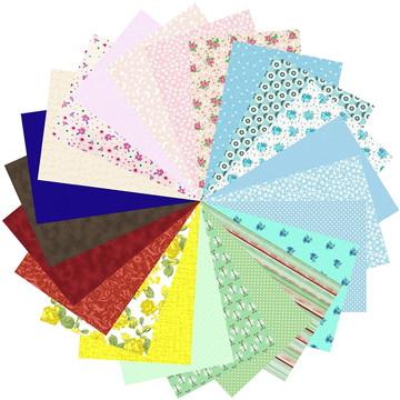Kit Tecido Patchwork Multicolorido Artesanato 66 #23 25x35cm