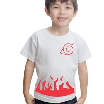 Camiseta Infantil Naruto Anime Algodão