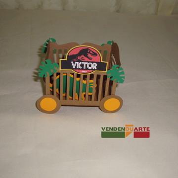 caixa jaula dinossauro