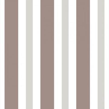 Papel de Parede Listrado Neutro Marrom Cinza e Branco