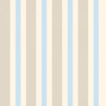 Papel de Parede Listrado Neutro Bege Creme e Azul claro