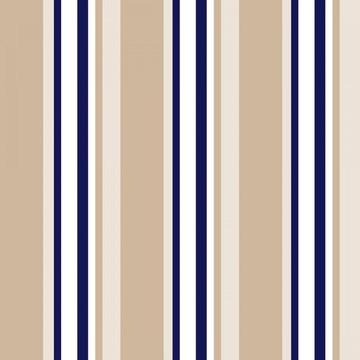 Papel de Parede Listrado Neutro Marrom Creme Branco e Azul